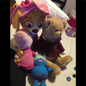 Kids stuffed animals paw patrol pepa pig teddybear